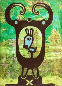 hasi, Acryl auf Kunststofffolie, 70 x 50 cm, Frieda Funke 2011