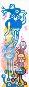 esc, Acryl auf Leinwand, 60 x 20 cm, Frieda Funke 2015