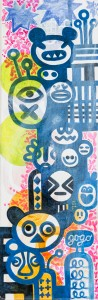gogo, Acryl auf Leinwand, 60 x 20 cm, Frieda Funke 2015