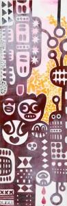 city, Acryl auf Leinwand, 60 x 20 cm, Frieda Funke 2015