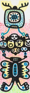 auf empfang, Acryl auf Leinwand, 60 x 20 cm, Frieda Funke 2014