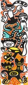 dance, Acryl auf Leinwand, 60 x 20 cm, Frieda Funke 2014