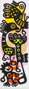 my birds, Acryl auf Leinwand, 60 x 20 cm, Frieda Funke 2015