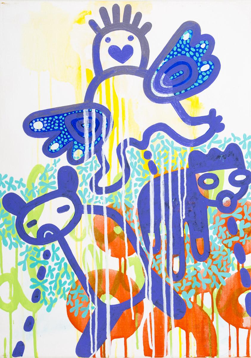 Bedürfnispyramide, Acryl auf Leinwand, 50 x 70 cm, Frieda Funke 2014